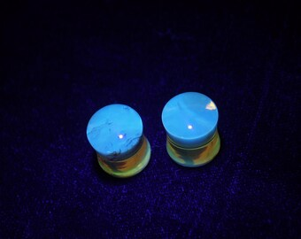 Natural Mexican Amber Ear Plugs 10mm Saddle