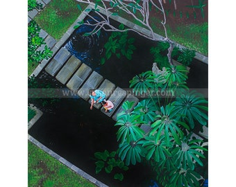 Bali, limited edition print of acrylic on canvas painting