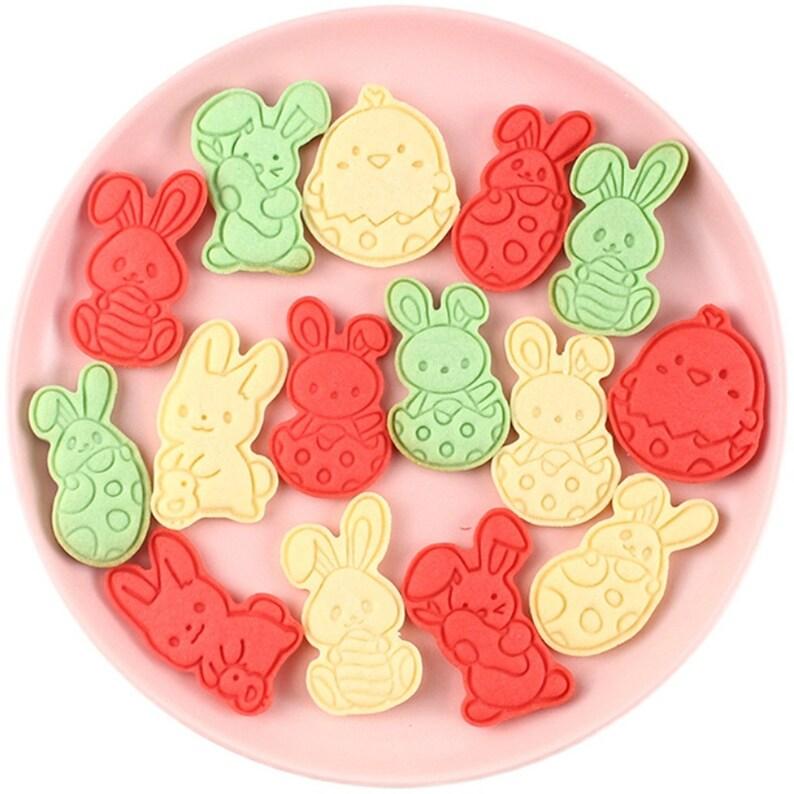 6PCS  Rabbit cookie cutter fondant Decorating cutter cookie mold biscuit mould