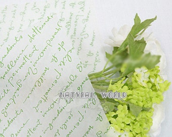 10 sheet green letters Food Wrapping Paper,Nougat wrapping Paper,cake Wax Paper,Soap Packaging Paper,Greaseproof Baking Paper,candy paper