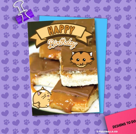 Happy Birthday Millionaire Shortbread Card Greeting