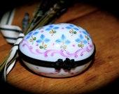 Vintage French Limoges Hand Painted Porcelain Egg Sku L284