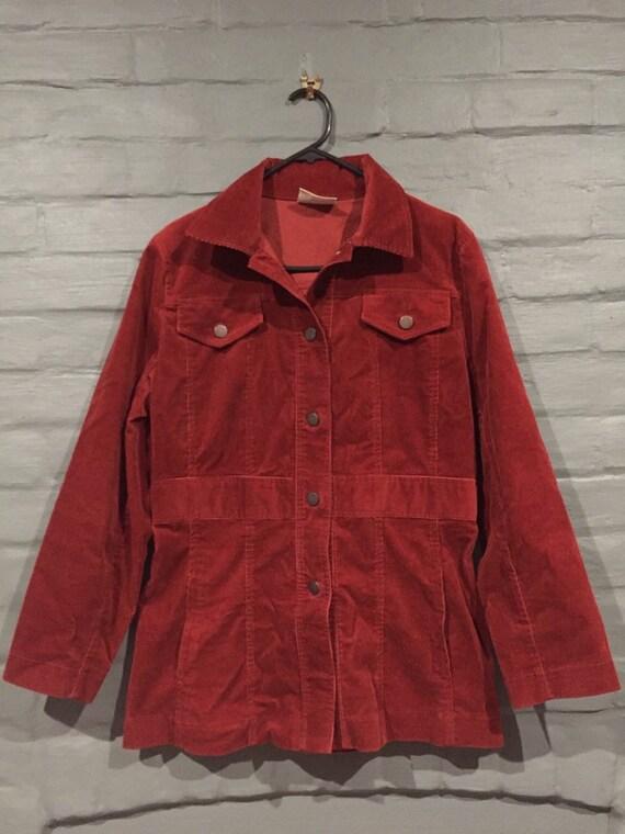 Dusty red Corduroy jacket