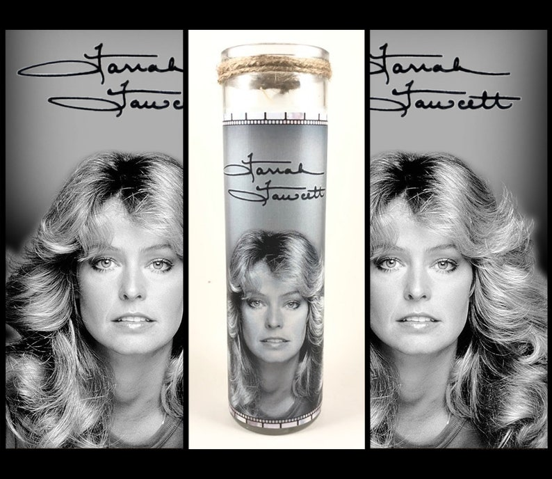 Farrah Fawcett Prayer Candle  Free Shipping US image 0