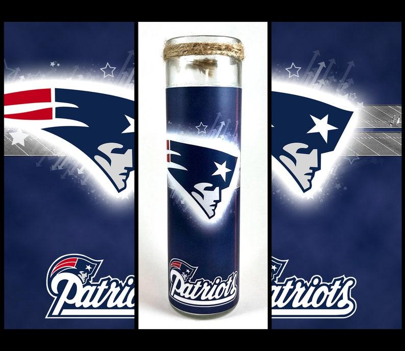 US Patriots Football Prayer Candle Free Shipping