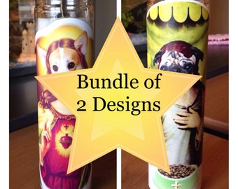 Bundle of 2 Prayer Candles - Free Shipping (US)