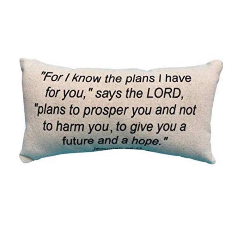 For I Know the plans Jeremiah 29:11 Scripture Christian image 0
