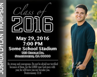 Simple Graduation Announcement/Invitation with Picture
