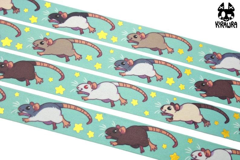 Prancing Rats Washi Tape  Crafting Crafty Decoration image 0