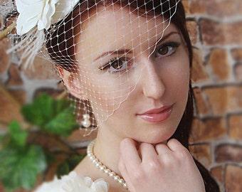 Items similar to Ivory Fascinator Wedding Hairstyles Bridal hair ...