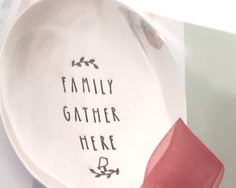 Family Gather Here Large Serving Spoon