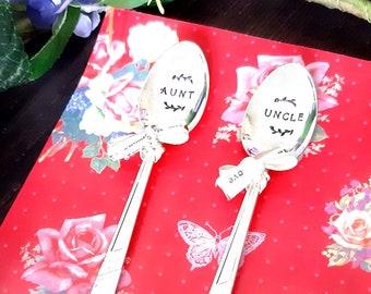 Aunt and Uncle Vintage Teaspoons