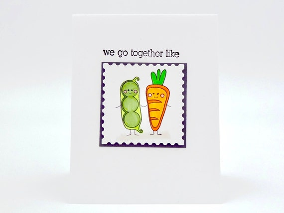 Valentines Day Card Birthday Perfect Pair Food Pun