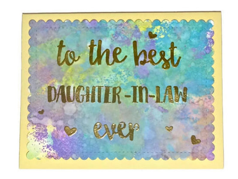 Daughter In Law Birthday Card Wedding Day Thank You Mothers Handmade Greeting