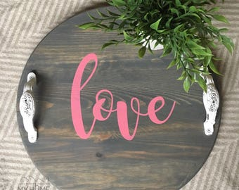 Love - mini round tray