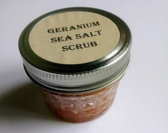 Geranium sea salt scrub