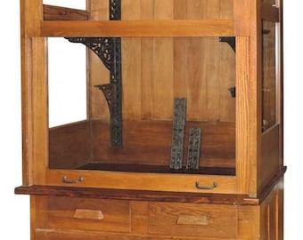 Antique Large Counter Top Countertop Showcase Display Case