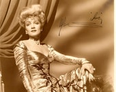 Marlene Dietrich Vintage Autographed Autograph Signed Hollywood Film Movie 1941 Photograph 7x9 Actress Singer The Flame of New Orleans