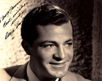 Dana Andrews Vintage Autographed Autograph Signed Hollywood Film Movie 8x10 Photograph 1940's Certified Authentic LOA