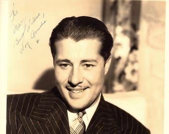 Don Ameche Vintage Autographed Autograph Signed Hollywood Film Movie 8x10 Photograph Certified Authentic LOA