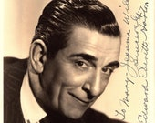 Edward Everett Horton Autographed Hand Signed 1940 39 s Hollywood Movie 8x10 Photograph Character Actor Alice in Wonderland
