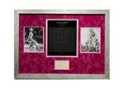 LARGE Framed Jayne Mansfield Framed Vintage Autographed Autograph Signed Hollywood poster print certification Photograph Authentic psa dna