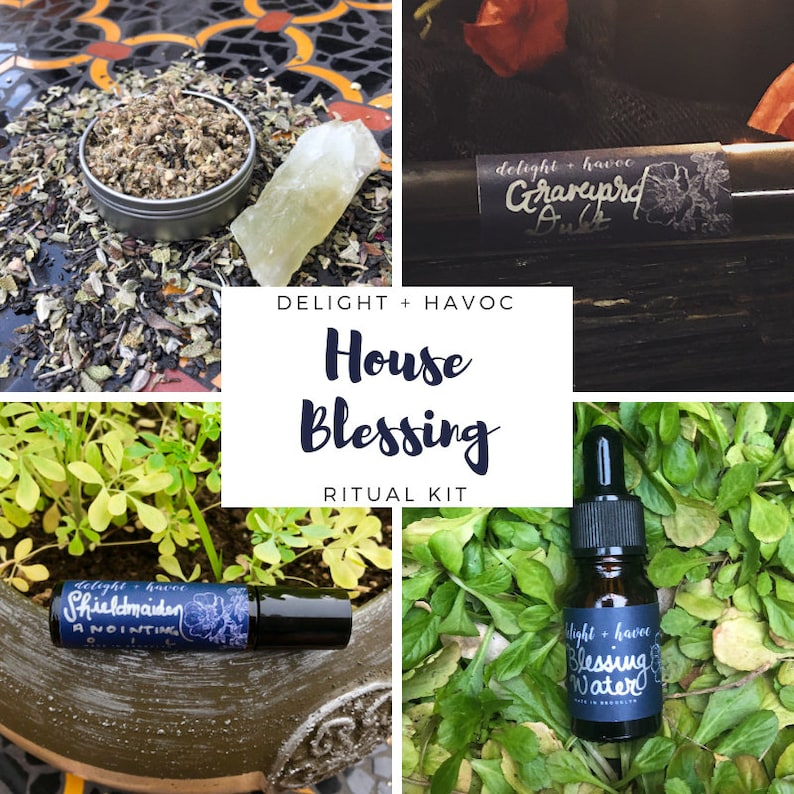 HOUSE BLESSING Ritual Kit, Cleansing, Warding, Protection, Repel Evil Eye,  Energy Clearing, Witchcraft Supplies, Anointing Oil, Incense