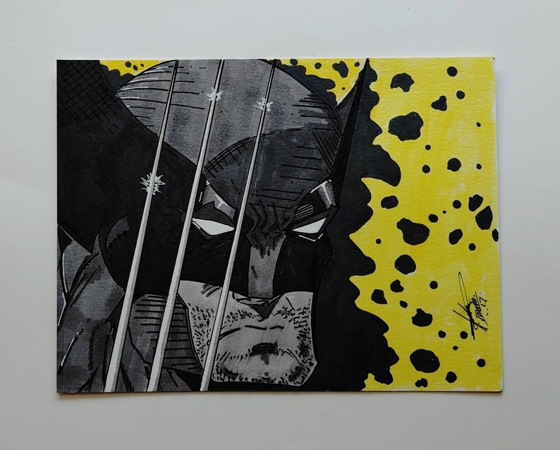 illustrations cosplay character copic markers art xmen Wolverine set of 4 artwork marvel drawings original handmade bundle sale