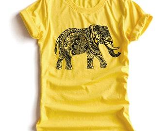 0b8a37cae7827d Elephant bohemian Shirt Elephant T-Shirt Elephant Day T-Shirt Clothing Shirt  O-Neck Unisex