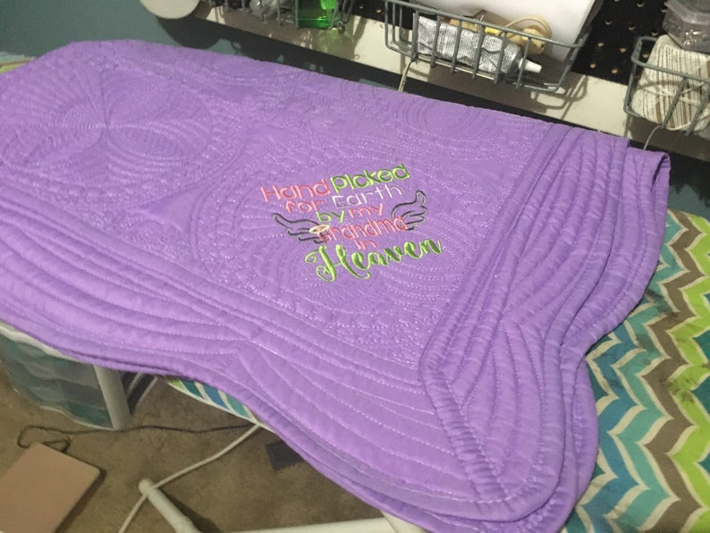 562d84da41a Hand Picked for Earth by my Grandma in Heaven Baby Blanket