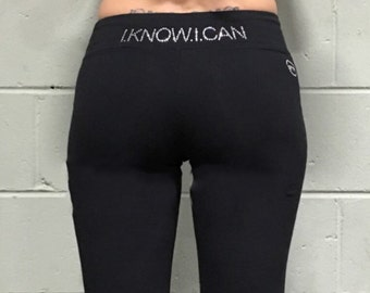 Enocan Women's E-Bling Yoga Pant - Fitness Apparel, Workout Apparel, Gym Apparel, Athletic Clothing