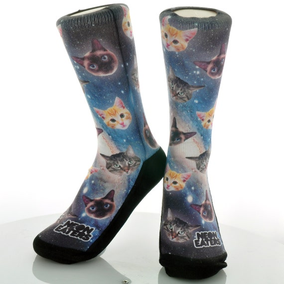 Adult Moon Cosmic Pattern Athletic Ankle Socks