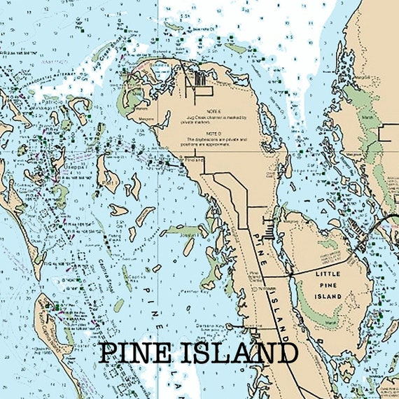 North Pine Island Florida Nautical Chart Print or Sandstone Coaster,  Navigational Map for Boaters, Beach House Decor, Gift for dad, Souvenir