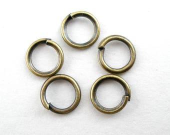 100 open junction rings bronze 5mm