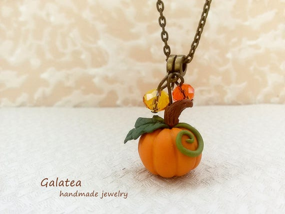 MysticMerchant Gifts Fall or Thanksgiving Pumpkin Necklace