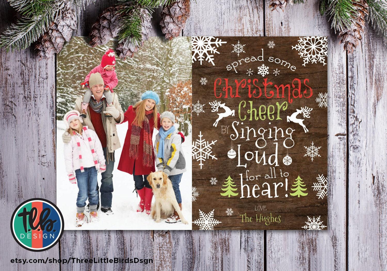 spread some Christmas cheer snowflake rustic Christmas card   Etsy
