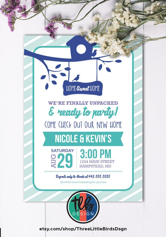 photo relating to Printable Housewarming Invitations named printable housewarming invitation, birdhouse housewarming
