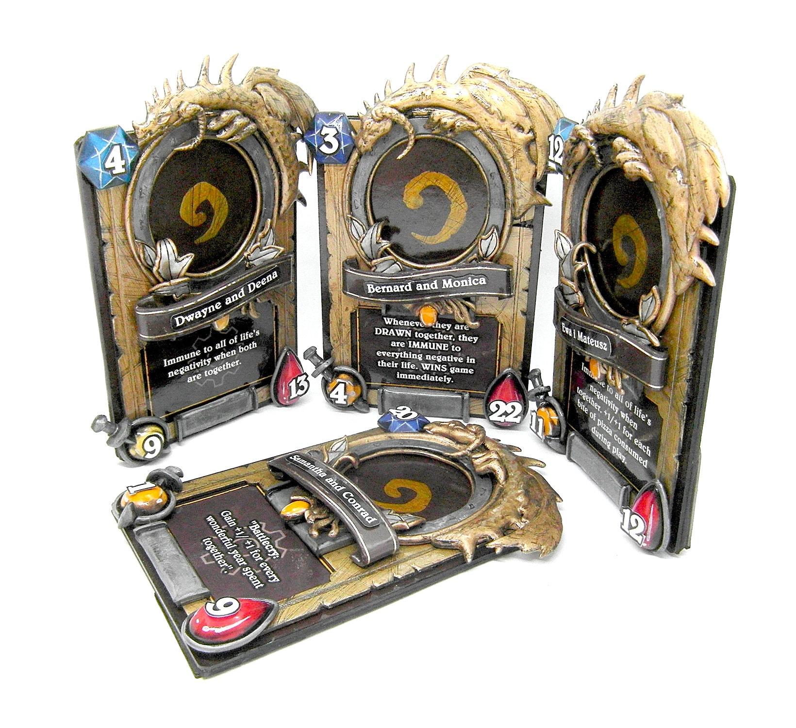 photo frame card hearthstone World of Warcraft original gift fan art  polymer clay gamer game home unusual present man gold cute war craft
