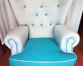 037 Upholstered wingchair