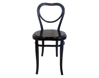 017 Thonet chair black lacquered with star