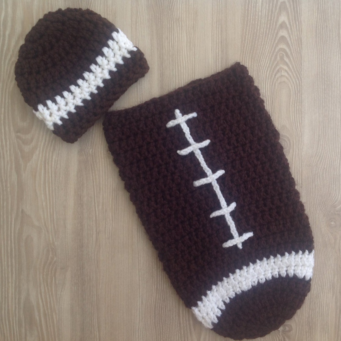 Baby Cocoon Newborn Cocoonfootball Cocoon And Hat For Etsy