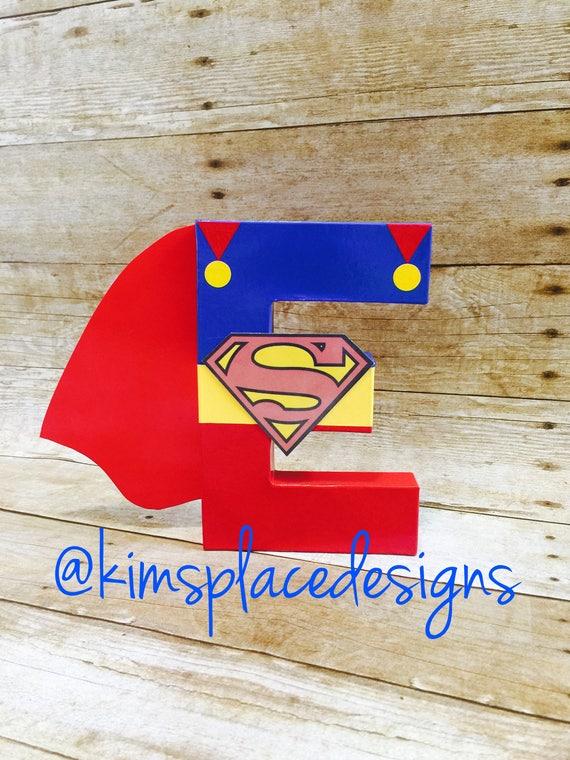 Superhero Letter Set Birthday Party Decorative Letters