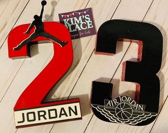 Michael Jordan Numbers, Michael Jordan Letters, Michael Jordan Party Decor, Jordan Theme Party, Jordan Birthday Decor, Air Jordan Party