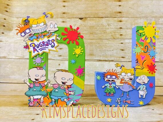 Rugrats Letters Rugrats Party Decorations Rugrats Theme Rugrats