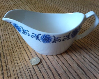 Alfred Meakin Glo-White Ironstone jug with blue floral motif