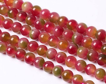 Watermelon Jade Candy Necklace