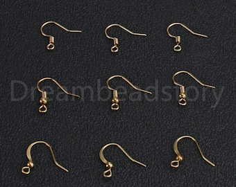 Wholesale 100//300pcs Ear Wire Hook With Spring and Ball 19mm