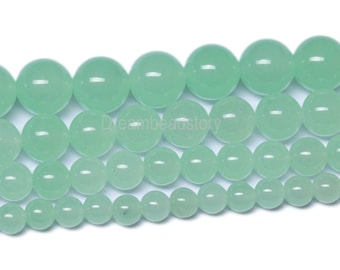 Perles Blue Aventurine Stone Natural Round Beads For Jewelry Making 4 6 8 10 12mm Spacer Beads Women Diy Bracelet Wholesale Beads & Jewelry Making