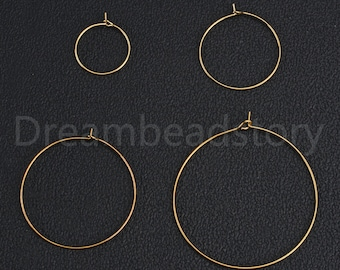 20pcs 40mm Durable Large Round Hoop Loop Earring for Jewelry Making Findings