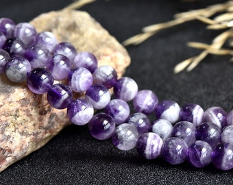 Fancy Amethyst Beads, Natural Purple Crystals Gemstones Beads, 6  8 10mm 12mm 14mm Real Purple Amethyst, Amethyst Strand (B71)